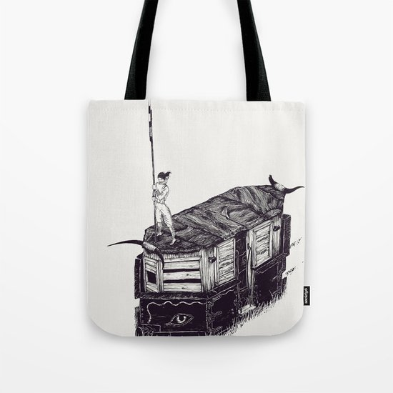 Knife Down, Wings Open Tote Bag