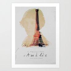 Amelie, the fabulous life of Amélie Poulain, movie poster, le fabuleux destin d'Amelie Poulain Art Print