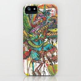 skeleton swimming iPhone Case