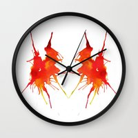 courage Wall Clocks featuring Courage by What do YOU see?