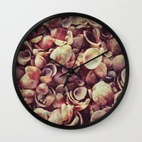 shells Wall Clocks featuring Shells by HooVeHee