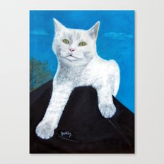 Bianca Cat Portrait Canvas Print
