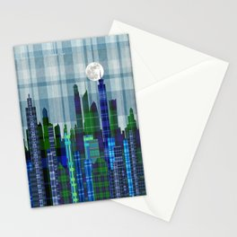 Plaid City Twilight Stationery Cards