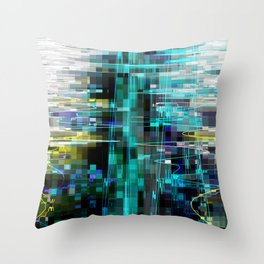 Electrified Shimmer Throw Pillow