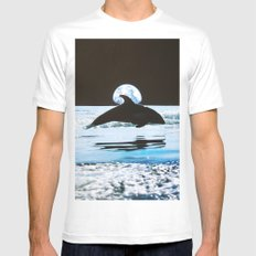 Dolphin Mens Fitted Tee White SMALL
