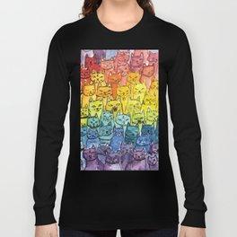 the pride cat rainbow  squad Long Sleeve T-shirt