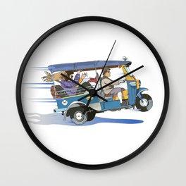 Tuk Tuk Wall Clock