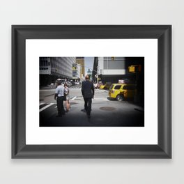 NYC modern mad men Framed Art Print