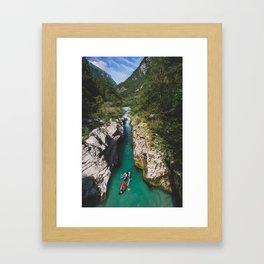 Canoeing - Soca Valley, Slovenia Framed Art Print