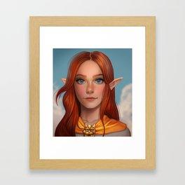 Malon from Ocarina of Time Framed Art Print