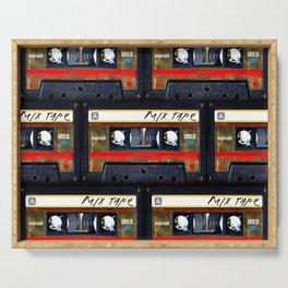 Retro classic vintage gold mix cassette tape Serving Tray