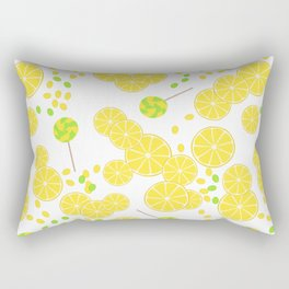 Candy sweets of lemon lollypops Rectangular Pillow