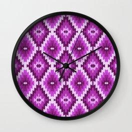 Kilim violet , purple, lilac, bohemian, Wall Clock