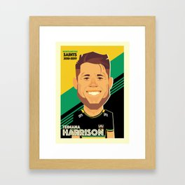 Teimana Harrison - Northampton Saints Framed Art Print