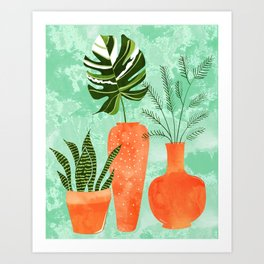 Water My Plants #painting #illustration Art Print