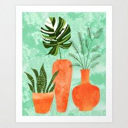 Water My Plants #painting #illustration Art Print