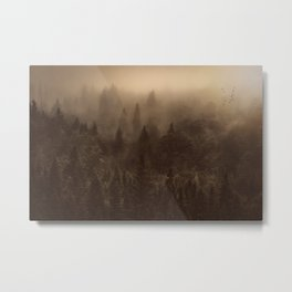 One Hundred Years of Solitude - Tree Forest Mountain Dust Metal Print