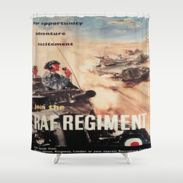 Vintage poster - Royal Air Force Shower Curtain