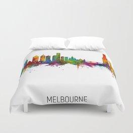 Melbourne Australia Skyline Duvet Cover