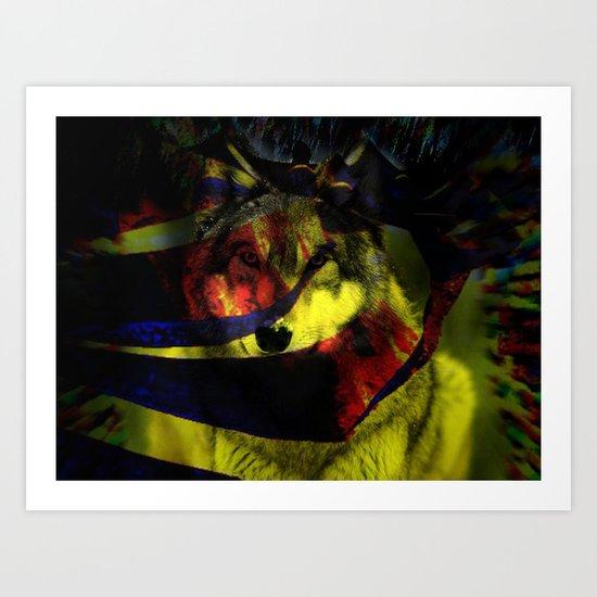 Pyramid wolf Art Print