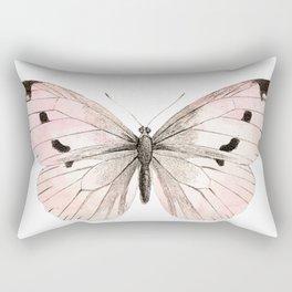 Butterfly flutter - soft peach Rectangular Pillow