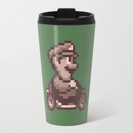 Pixelated Super Mario Kart - Luigi Travel Mug