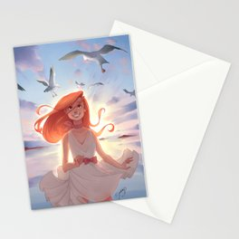 A day at the sea Stationery Cards