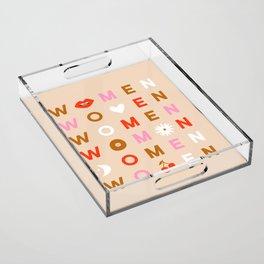 Women Acrylic Tray