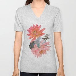 Gazelle and Flowers Unisex V-Neck