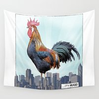 cock Wall Tapestries featuring A HUGE COCK by John Medbury (LAZY J Studios)