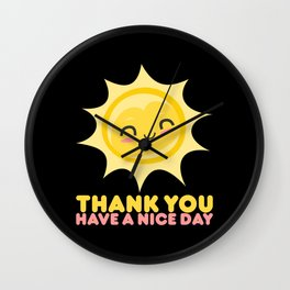 Thank You Have A Nice Day | Grocery Wall Clock