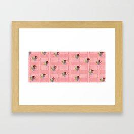 Floral Chimagh Framed Art Print