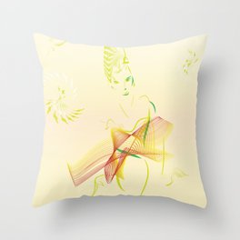 fashion green Throw Pillow