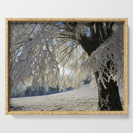 Frost Covered Tree Serving Tray