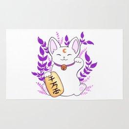 Plant Maneki Neko // White Rug