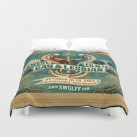 lesbian Duvet Covers featuring Southwest Gay & Lesbian Film Festival 2014 by SWGLFF