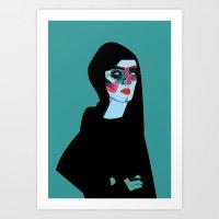 women Art Prints featuring Women by Zaneta Antosik