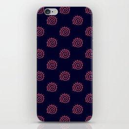 Navy Blue and Pink Flourish Swirls iPhone Skin