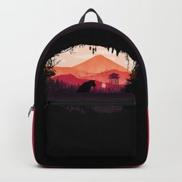 Lonely Wolf in The Cave Backpack