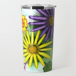 Aster Flowers Travel Mug