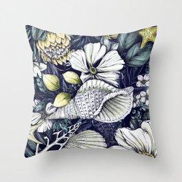 Snail House Floral Design Throw Pillow