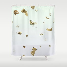 Gold Flakes Shower Curtain