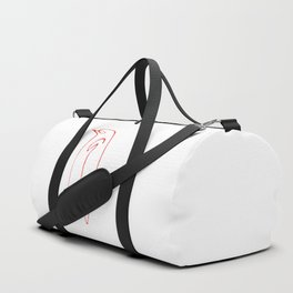 faux red picasso Duffle Bag