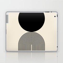 Abstraction_BLACK_DOT_LINE_ART_Minimalism_003C Laptop & iPad Skin