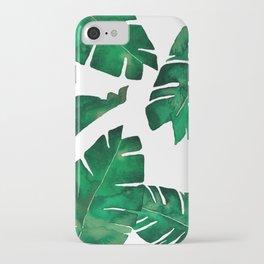 Banana leafs iPhone Case