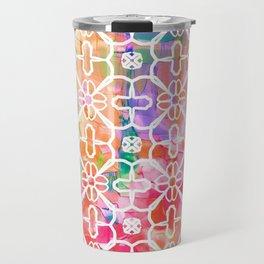 Watercolor Paint Flower Travel Mug
