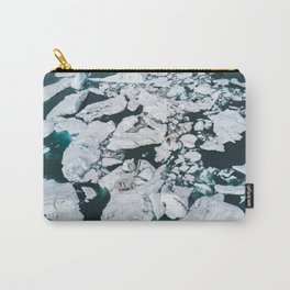 Icelandic glacier icebergs from above - Landscape Photography Carry-All Pouch