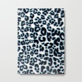Leopard blue and violet pattern Metal Print