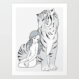 My tiger, my heart Art Print