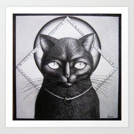 Morgana the guardian Art Print
